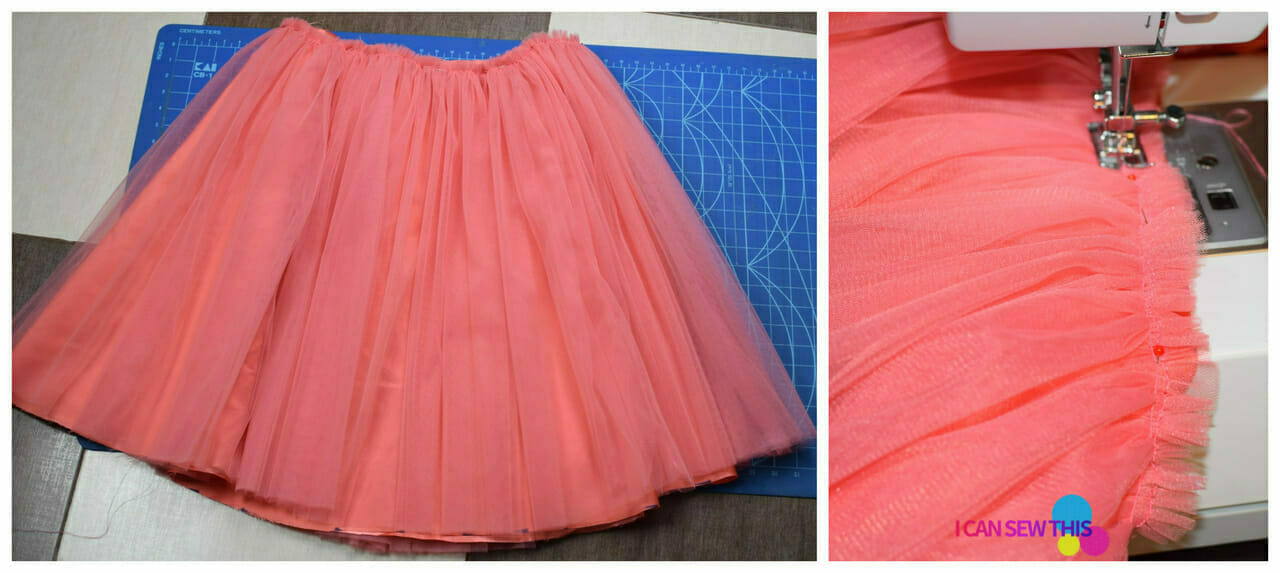cutting mat, sewing machine, sewing tulle fabric