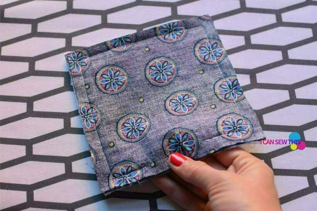 10 minute DIY fabric coasters tutorial I Can Sew This