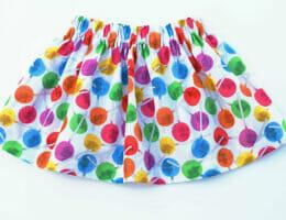 simple cotton skirt, lollipop print fabric