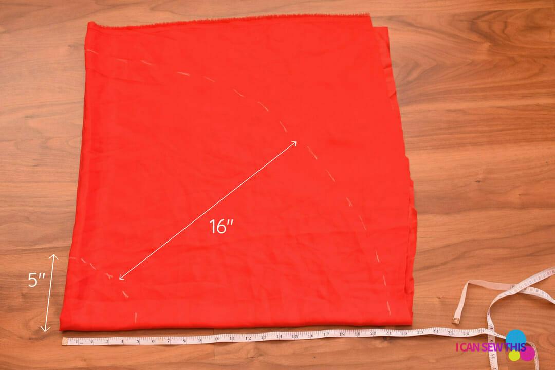 DIY Christmas tulle skirt, cut circle skirt pattern