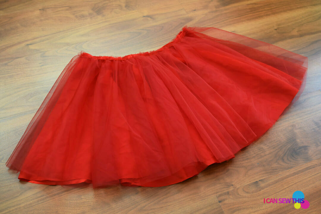 how to make tulle circle skirt elastic waistband
