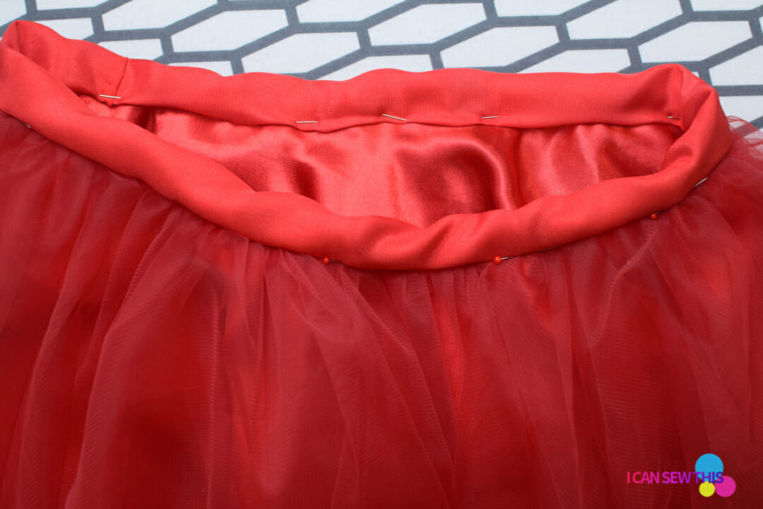 how to make tulle circle skirt elastic waistband