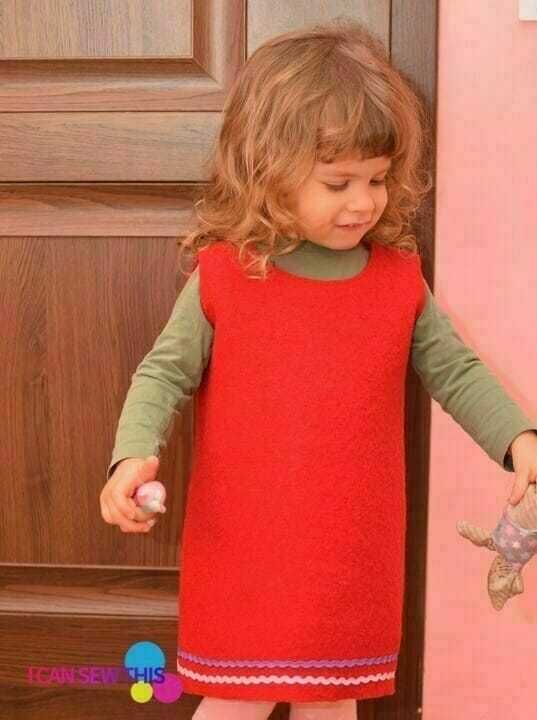 How to make an easy DIY wool dress for girls