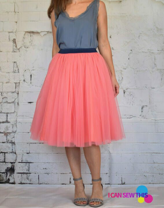 diy pink tulle skirt