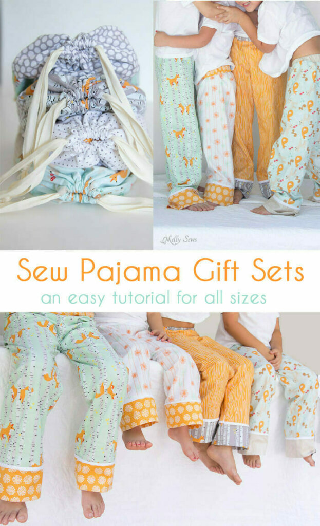DIY pajama pants gift sets