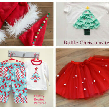 25 DIY Christmas outfit ideas for kids (free sewing patterns & tutorials)