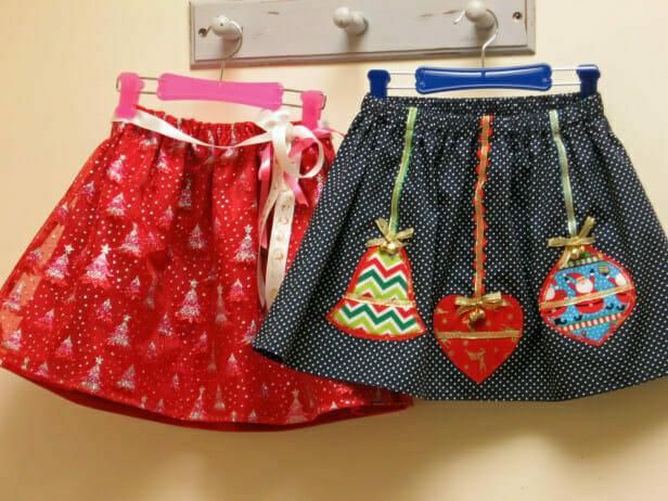 Christmas Glitter Skirts