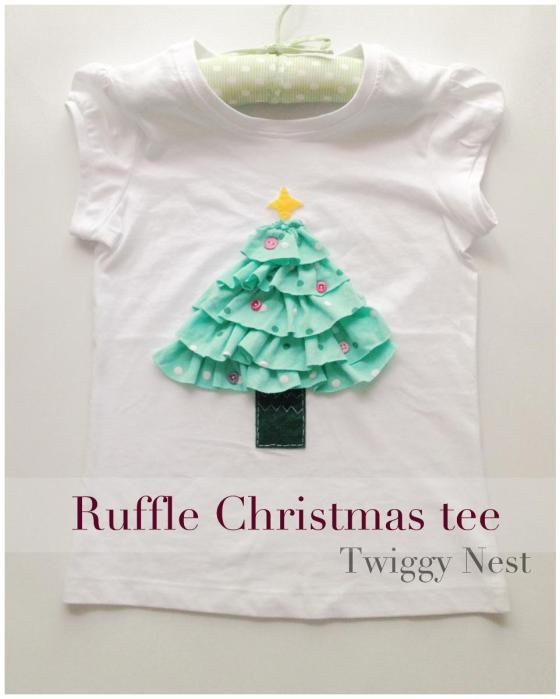 Ruffle Christmas tree top