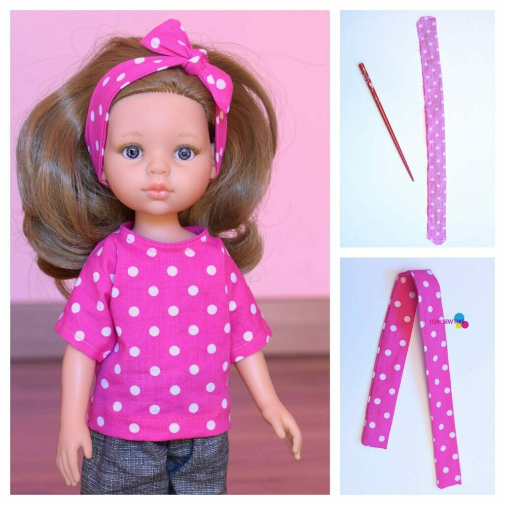 free sewing pattern doll top and headband