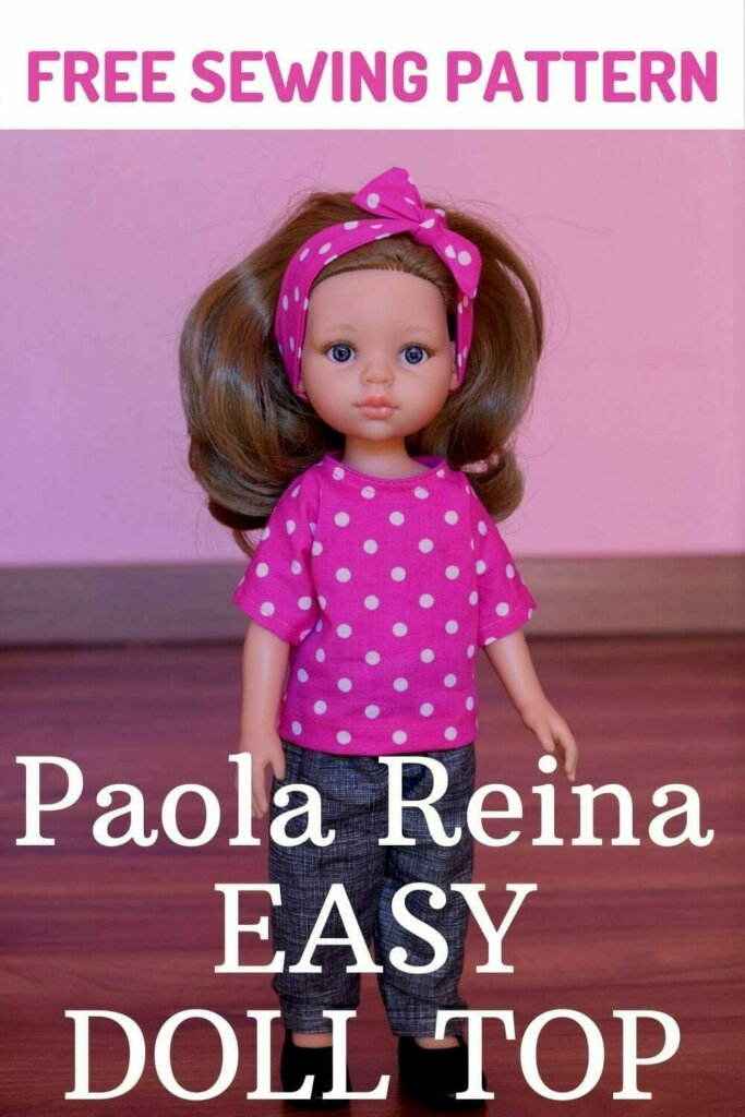 Easy Paola Reina doll top tutorialand free sewing pattern