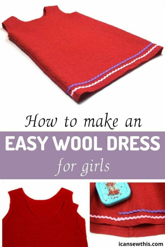how to make an easy boiled wool dress for girls