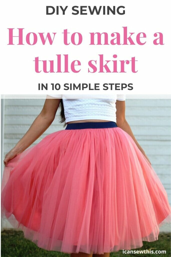 How to make a tulle skirt in 10 simple steps