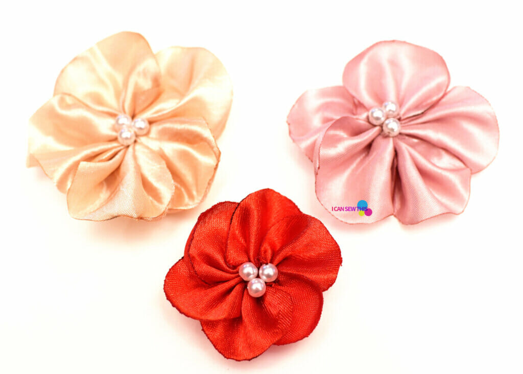How to make fabric flowers DIY satin flowers