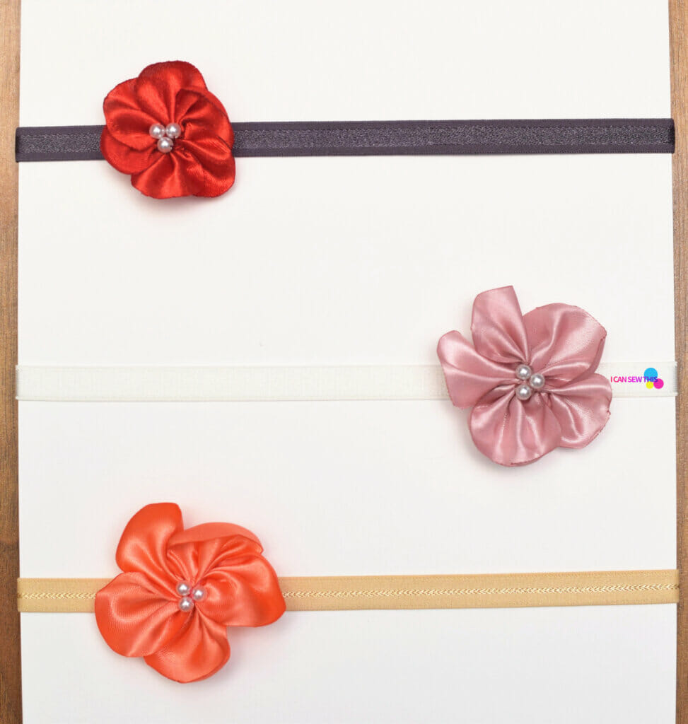 How to make fabric flowers baby headband