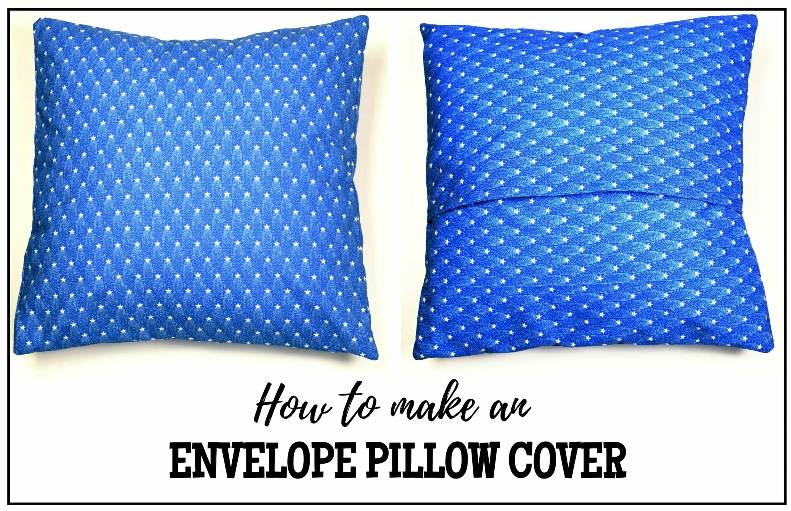 How to make an envelope pillow cover tutorial I Can Sew This