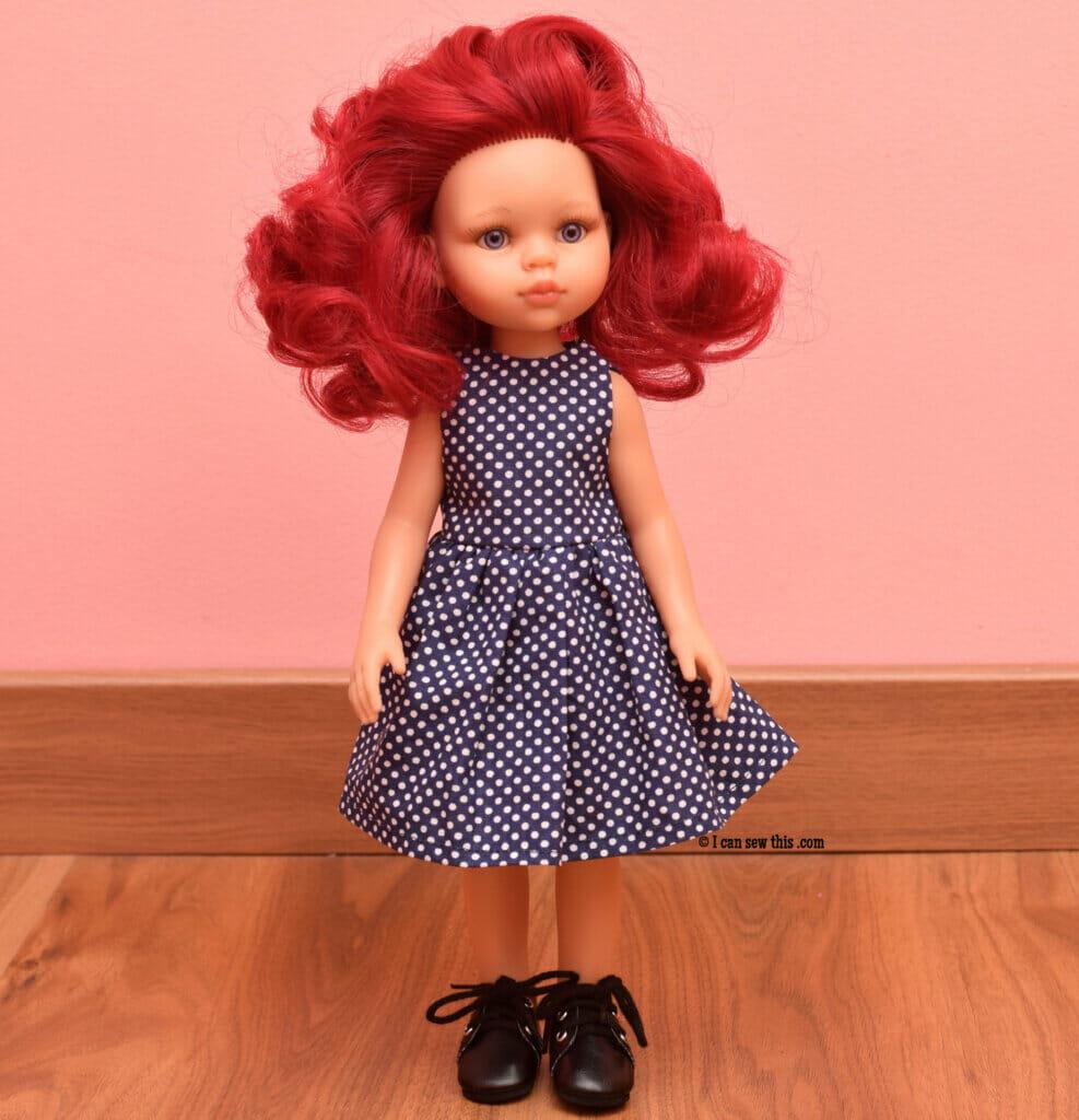 Easy Paola Reina doll dress+free PDF pattern