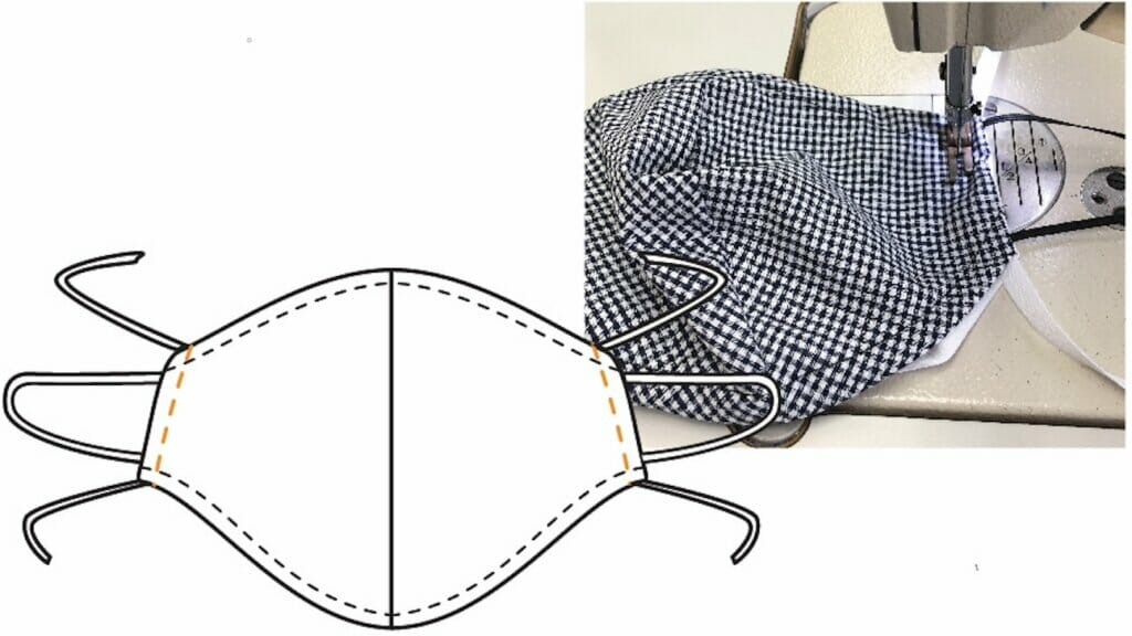 Reusable DIY cloth mask with disposable middle layer filter