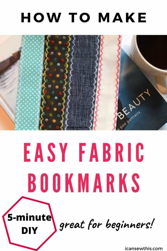 easy DIY fabric bookmarks tutorial