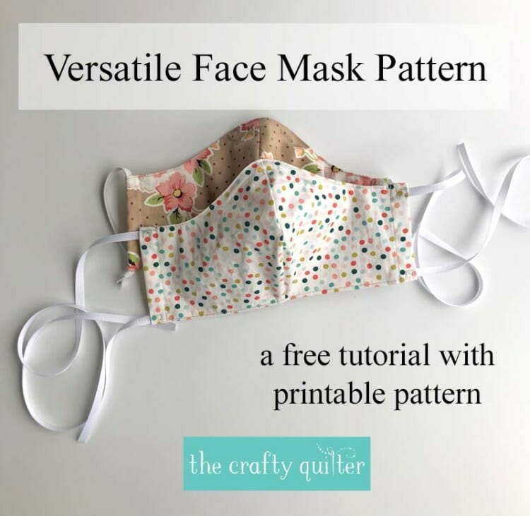 Versatile face mask pattern