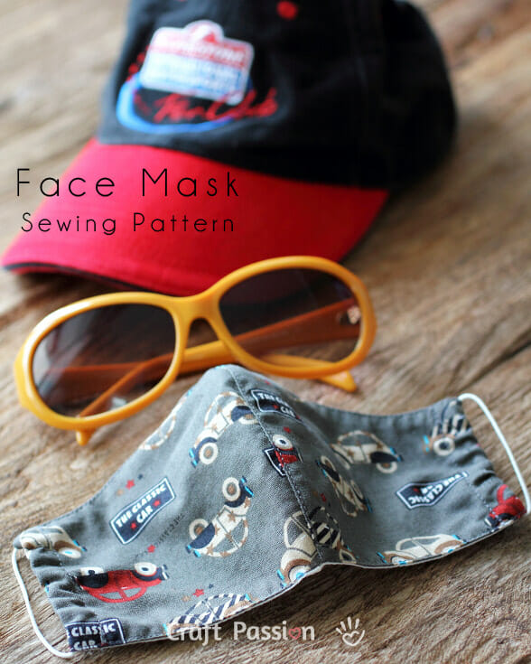 Free face mask pattern & tutorial from Craft Passion