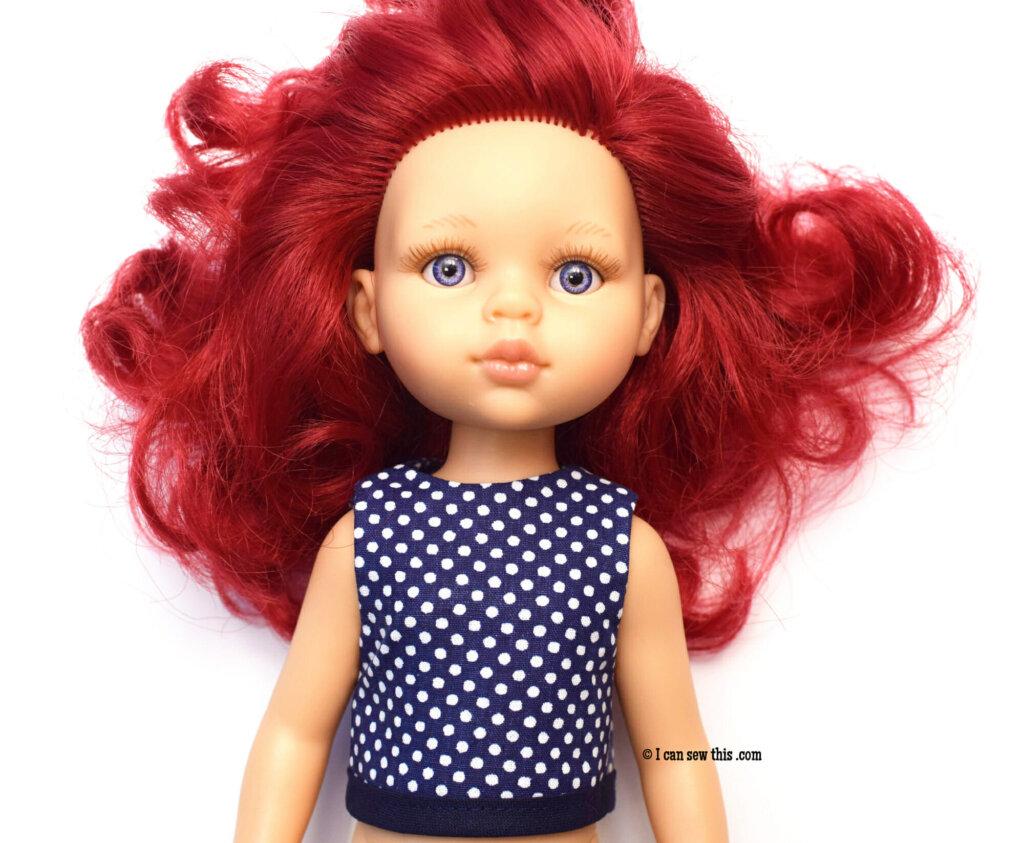 Paola Reina doll DIY top free pattern