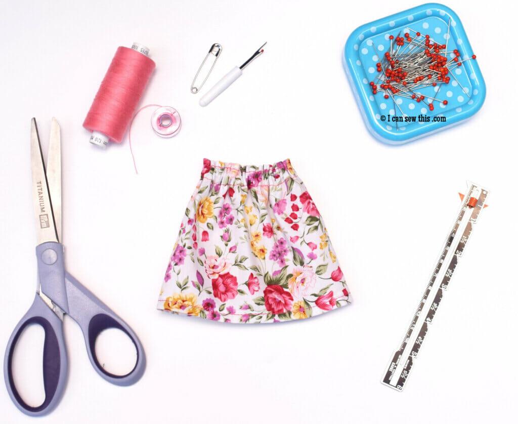 Paola Reina doll DIY skirt free pattern