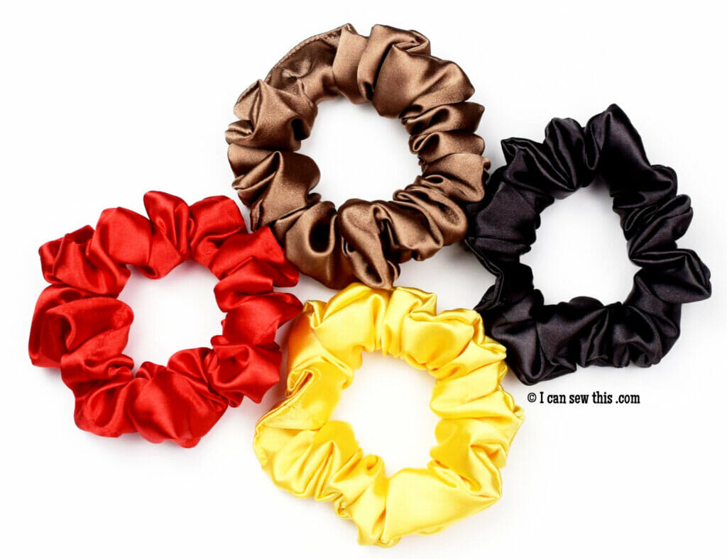 how to make satin scrunchies tutorial