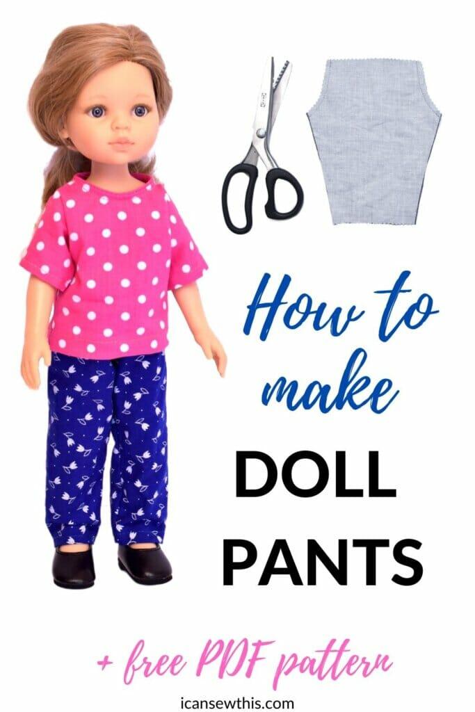 How to make doll pants (+free PDF pattern)