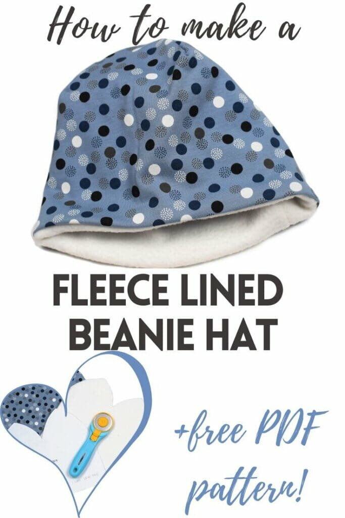 how to make a DIY fleece lined beanie hat