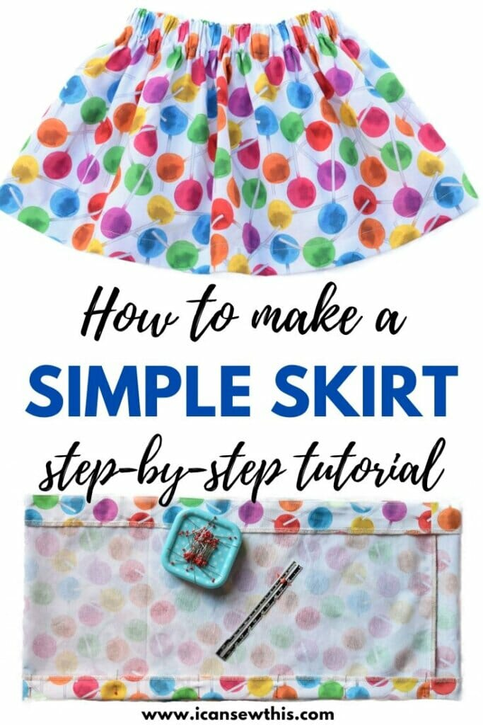 How to make a simple cotton skirt tutorial