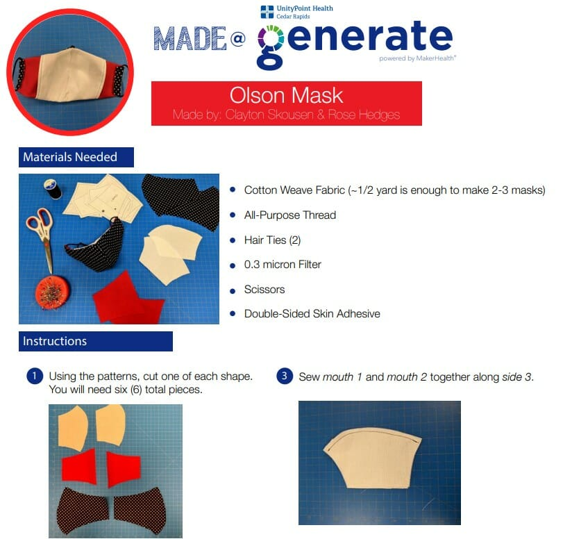 free Olson Mask PDF pattern