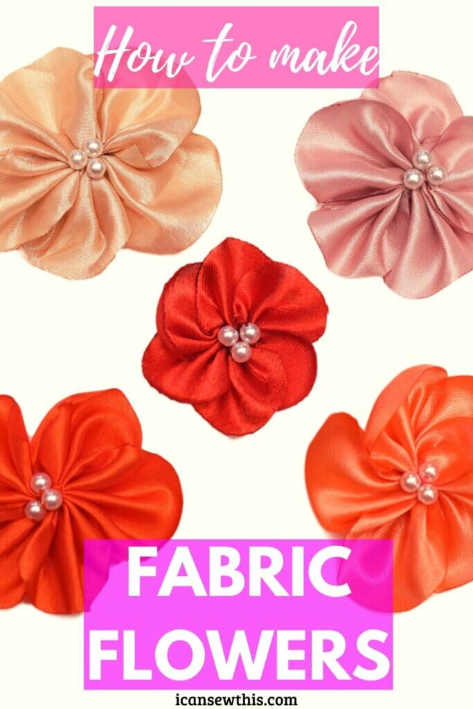 How to make fabric flowers | DIY satin flowers