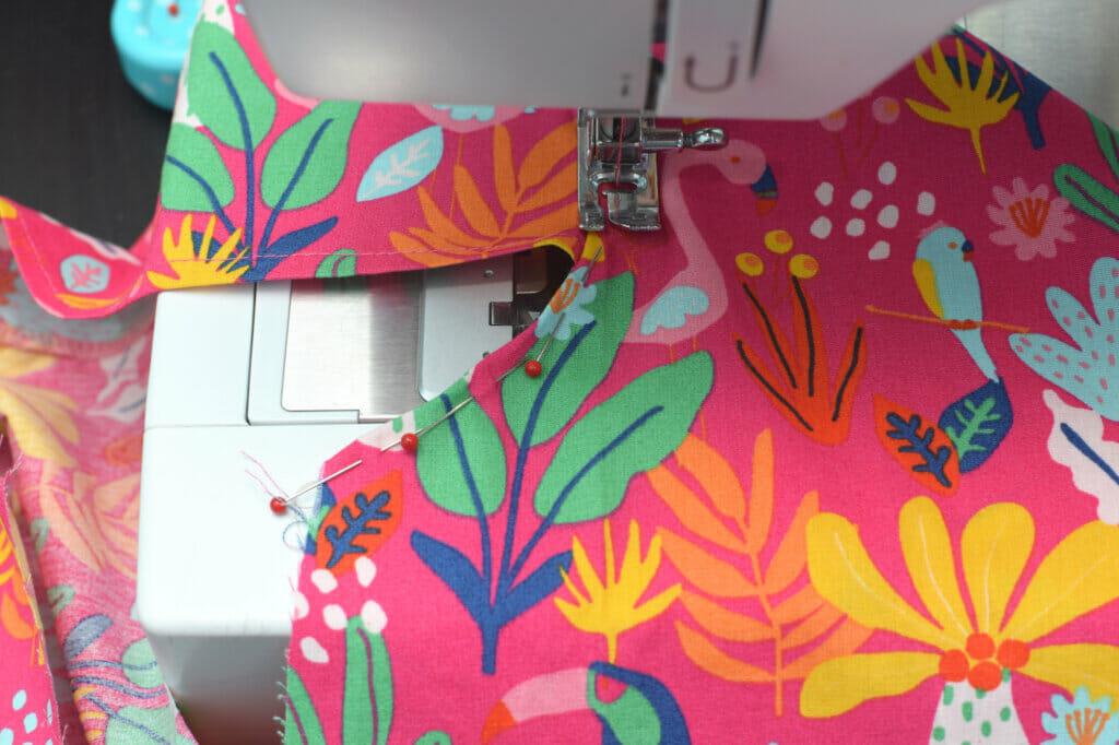sewing machine, pins