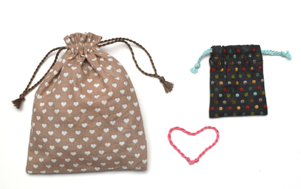 Make cord for drawstring bags using sewing thread
