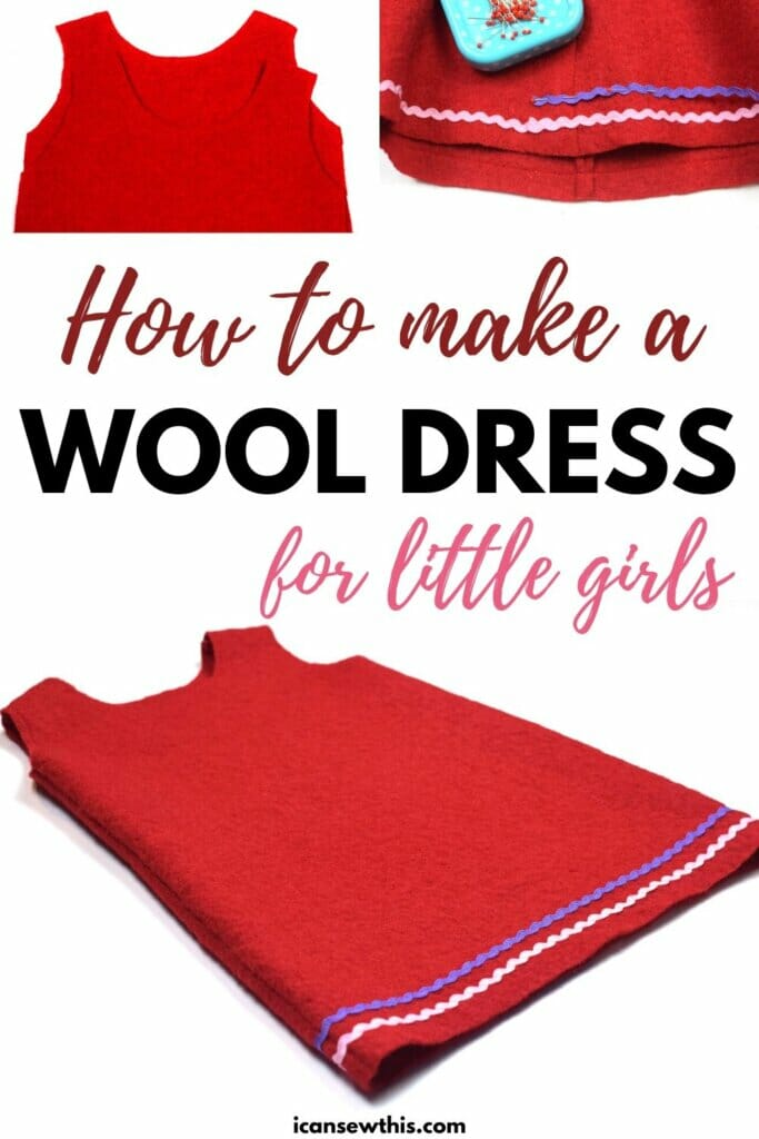 How to make a wool dress for little girls