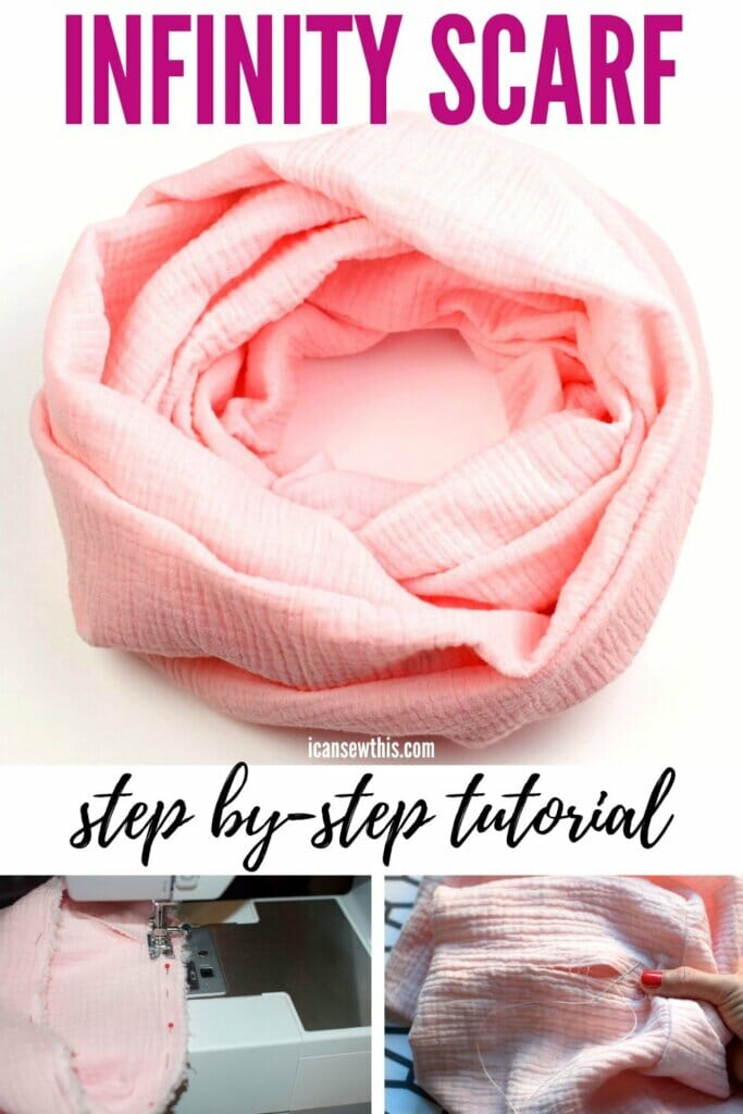 how to make a DIY infinity scarf