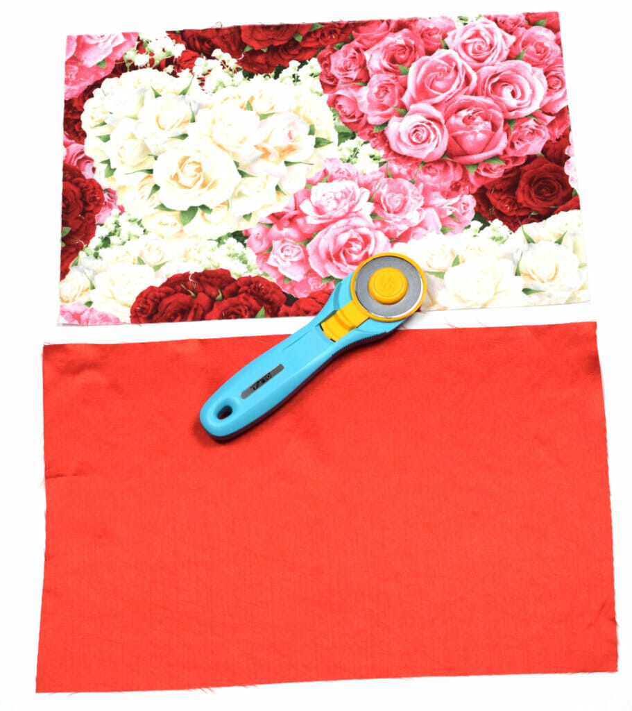 lined drawstring bag - cut the fabric pieces