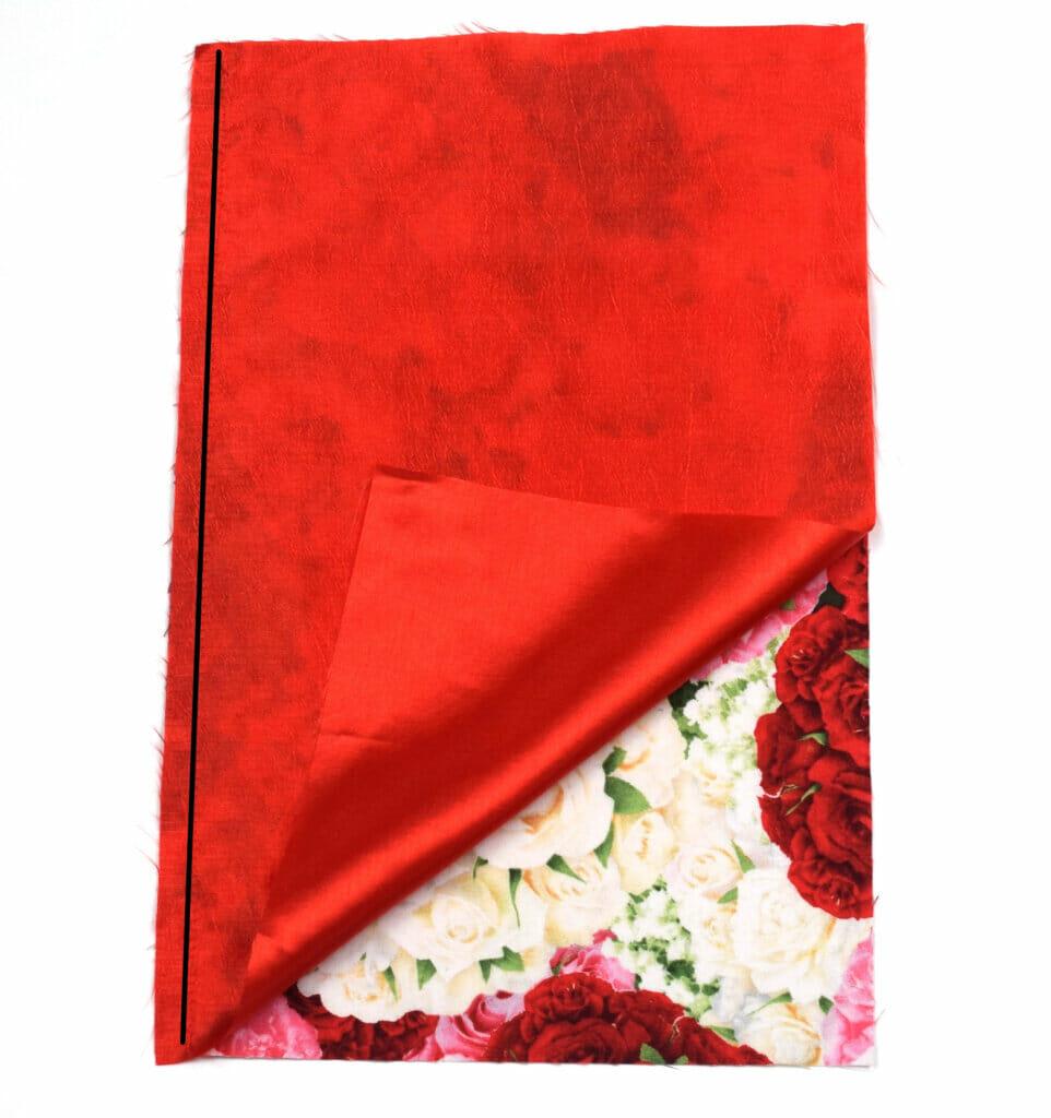 lined drawstring bag - sewing