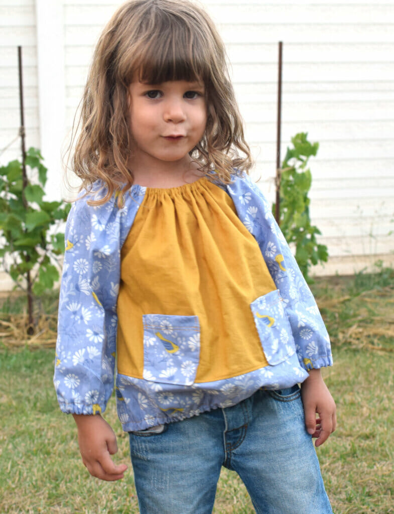Long sleeve peasant top for little girls free pattern