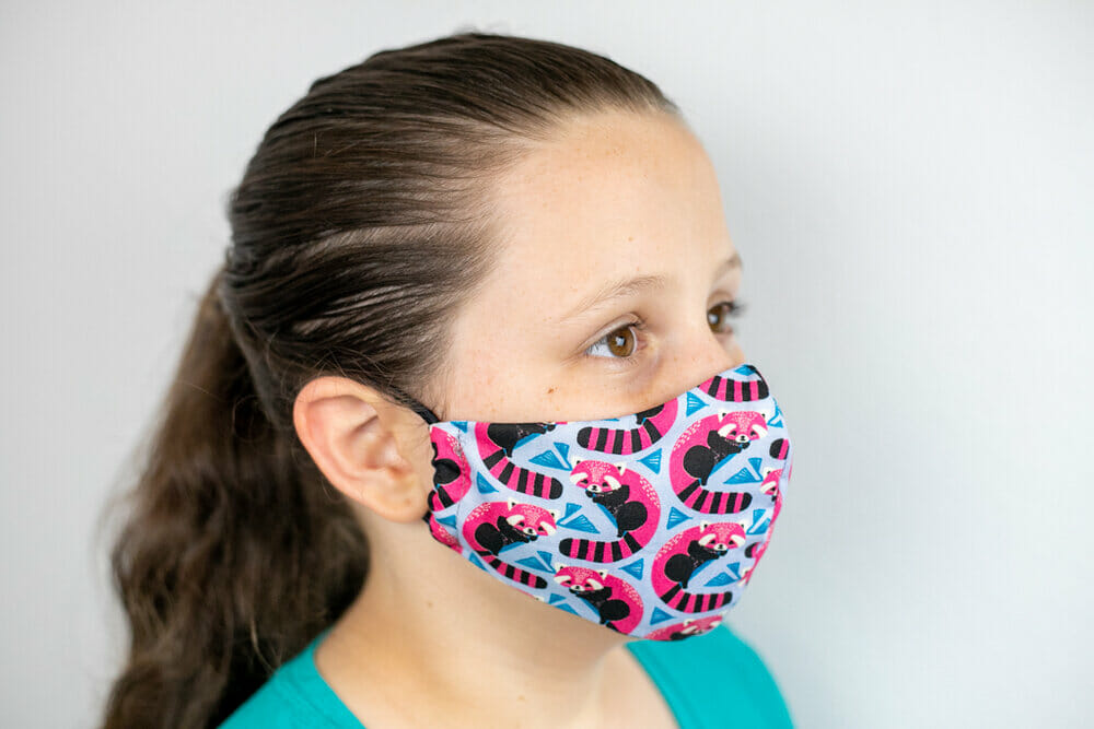 The Olson face mask pattern in child sizes