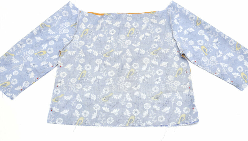 Long sleeve peasant top - pattern pieces