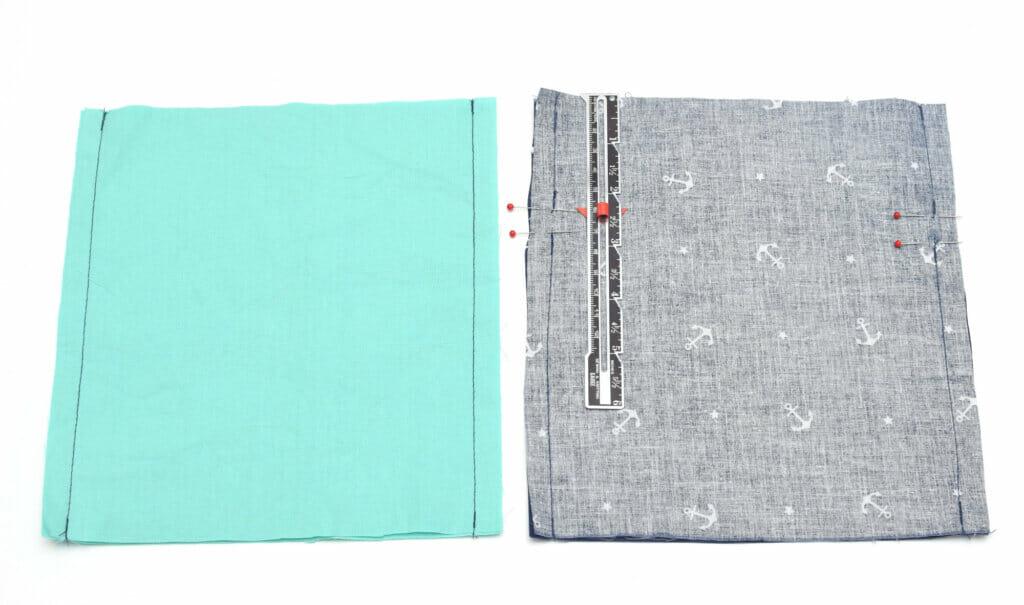 fabric, side seams, gauge, pins