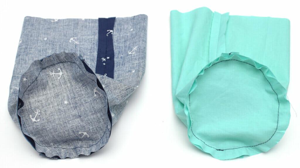 round bottom drawstring bag