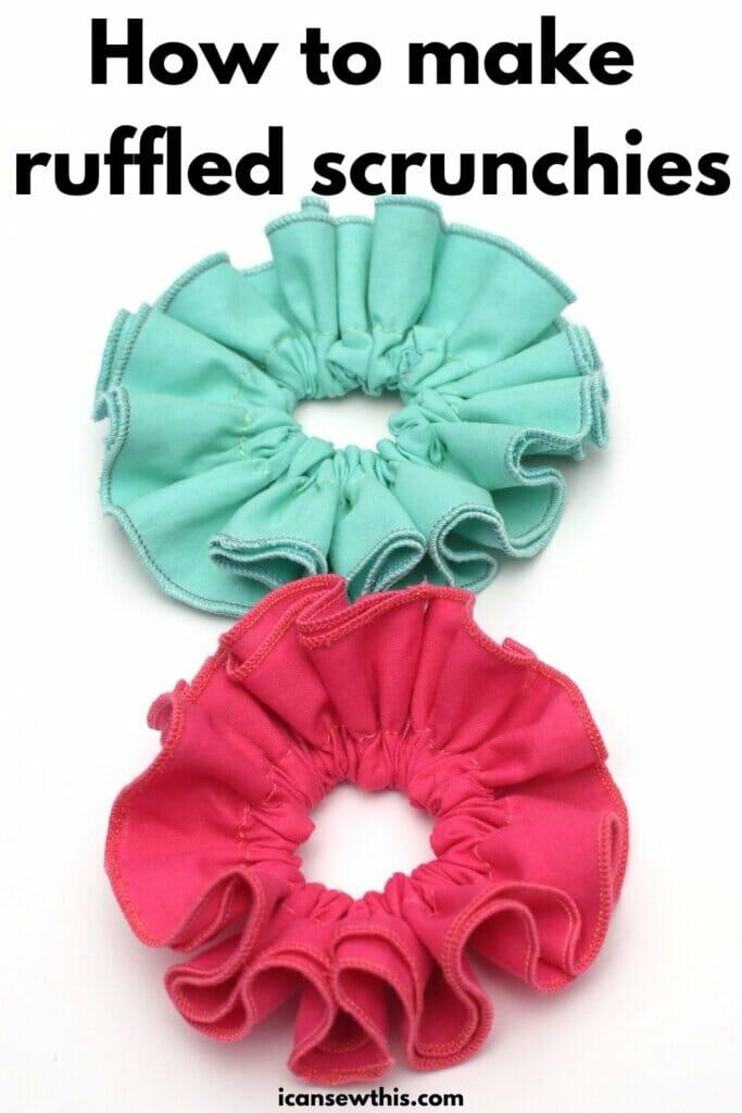 how to make ruffled scrunchies