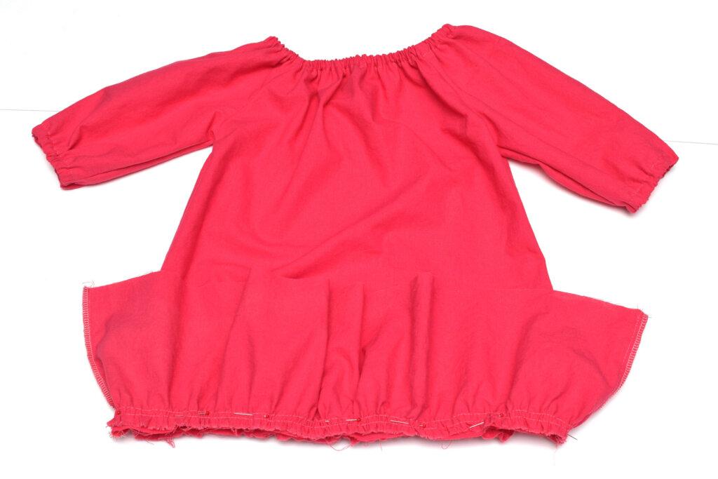 attach ruffle to a dress