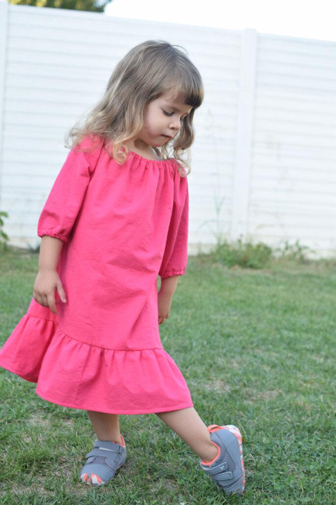long sleeve peasant dress for little girls