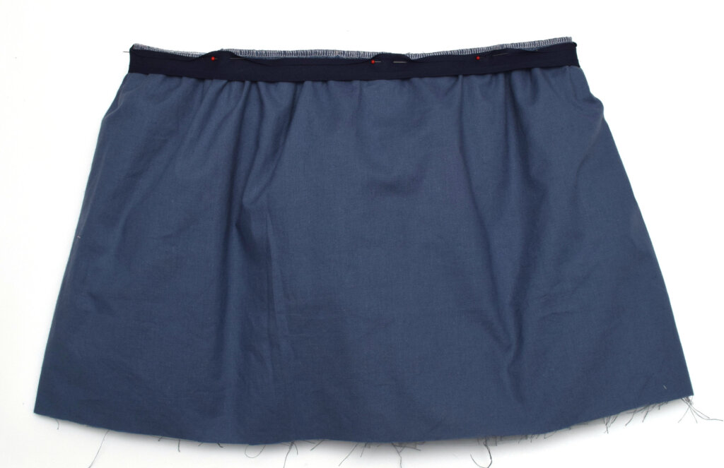 attach bias tape for elastic waistband