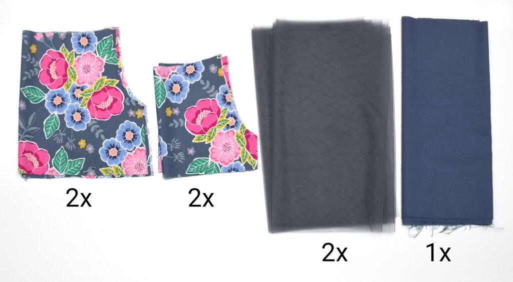 princess tulle dress pattern pieces