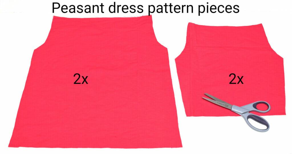 peasant dress pattern pieces