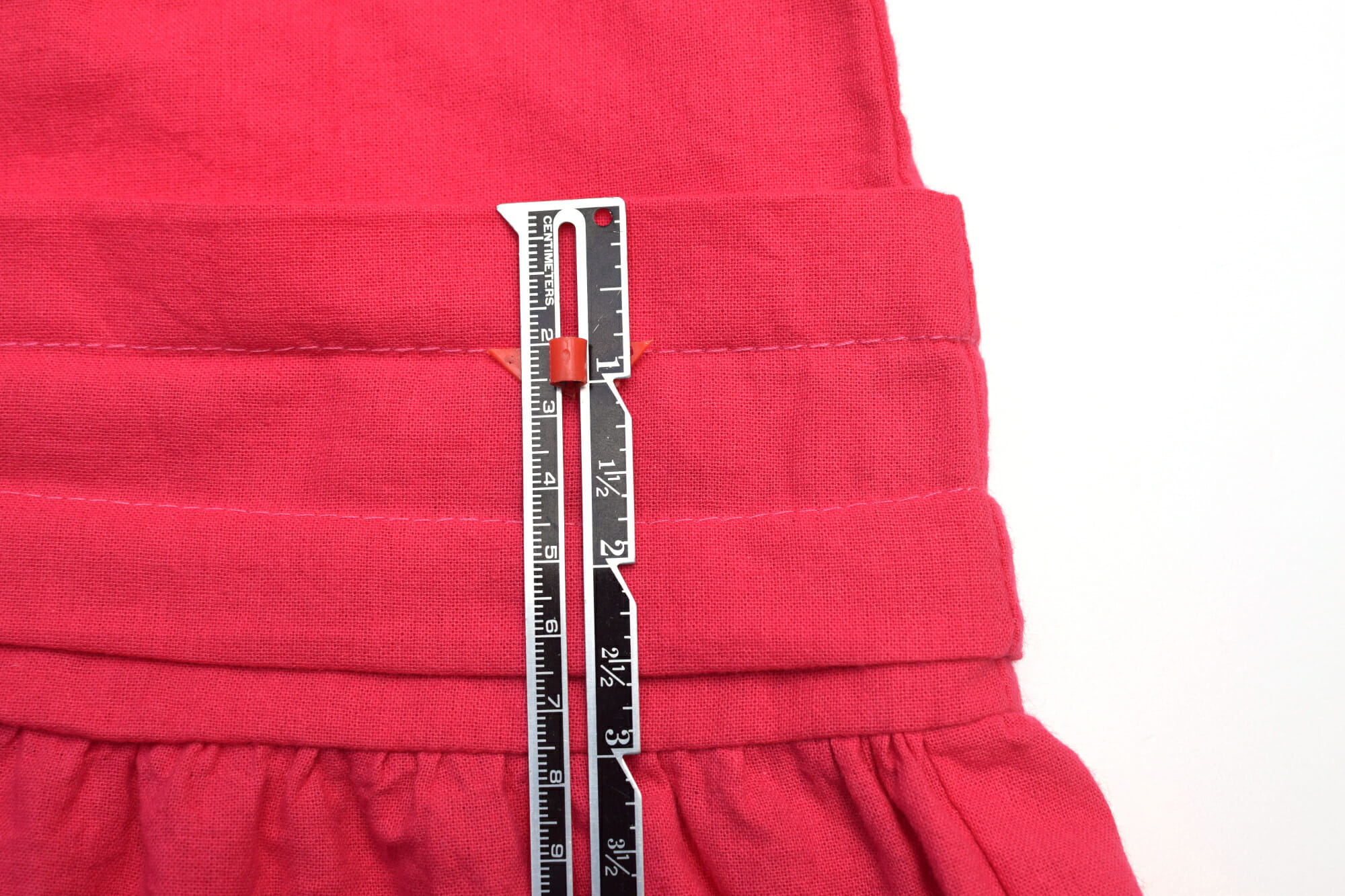 fabric tucks tutorial